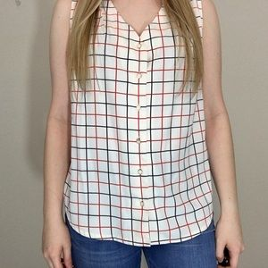 3/$25 Tommy Hilfiger Button Down Tank Top